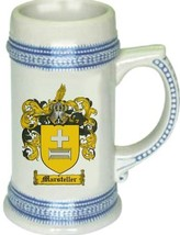 Marsteller Coat of Arms Stein / Family Crest Tankard Mug - $21.99