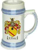 O'Trasey Coat of Arms Stein / Family Crest Tankard Mug - $21.99