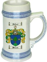 Woode Coat of Arms Stein / Family Crest Tankard Mug - $21.99