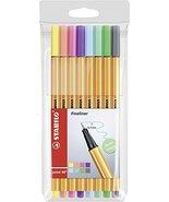 Stabilo Point 88 Fineliner Pens, 0.4 mm - 8-Color Pastel Set - $9.59