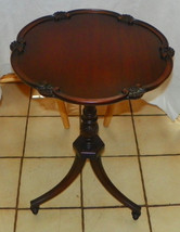 Mahogany Carved Lamp Table / Side Table by Imperial  (T299) - $349.00