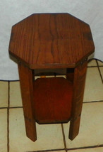 Solid Oak Plant Stand / Side Table with Secondary Shelf - $249.00