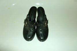 gianni bini buckle mules black size womens 8 - $21.99