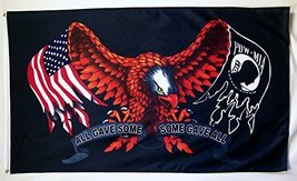 POW MIA All Give Some Some Gave All Eagle 3' X 5' Indoor Outdoor Banner - $15.95