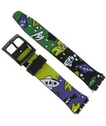 17mm Cartoon Fish Theme Design Watch Band for Swatch- FREE SPRING BARS [... - $11.61