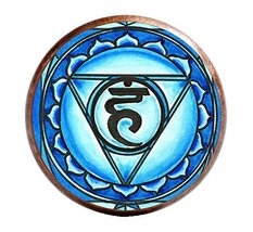 "5th Chakra Vishuddha 1"" Circle Antique Copper Adjustable Ring - $14.95"