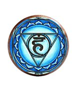 "5th Chakra Vishuddha 1"" Circle Antique Copper Adjustable Ring - $14.95"