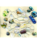Dichroic Fused Glass Cab Lot - $13.59