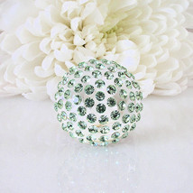 New Clear Acrylic Domed Ring Numerous Green Swarovski Elements Crystal On Dome image 4
