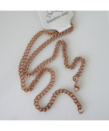 New Unisex 18k Rose Gold Plated Stainless Steel Curb Link Necklace Chain... - $19.78
