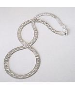 925 Sterling Silver Flat Omega Chain 6MM Greek Key Reversible Herringbon... - $59.39