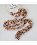 New Unisex 18k Rose Gold Plated Stainless Steel Curb Link Necklace Chain... - $24.74