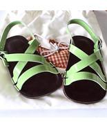 New Petite Maloles Childrens Green Patent Buckle Sandal Infant Sizes MSR... - $25.00