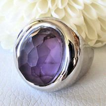 Love Peace & Hope One Of A Kind 925 Sterling Silver Faceted Amethyst Rin... - $173.25