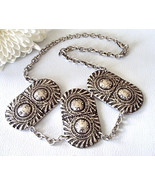 """New Signed Carol Marie Turkish Armor Triple Shield Chain Necklace 16""""  M... - $89.10"""