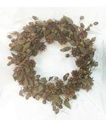 Home For ALL The Holidays 16 Inch Pine Cone and Acorn Candle Ring/Wreath - $49.50