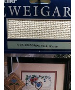 "10ct Gold Cream Tilla Cross Stitch 18""x 18"" - $5.00"
