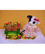 Mary Moo Moo's John Deere Girl Wagon/Apples Enesco 725668 - $21.03