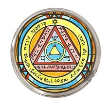 Solomons 6th Pentacle of the Sun for Invisibility Silver Adjustable Ring - $14.95
