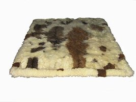 Alpakaandmore Original Andean Babyalpaca Fur Rug Brown Spots Handmade (150 x ... - $563.11