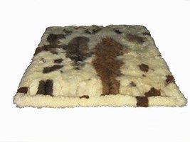 Alpakaandmore Original Andean Babyalpaca Fur Rug Brown Spots Handmade (200 x ... - $1,210.57