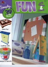 Plaid's Simply FUN with Stamps & Stencils Book - $5.45