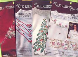 4 Christmas Transfers~Bucilla Silk Ribbon Embroidery - $11.30