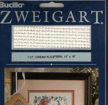 """Zweigart 7ct Cream Klostern 14""""x 18"""" - $5.00"""