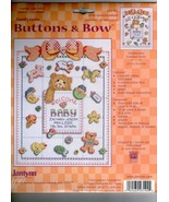 Janlynn's BUTTON and BOWS Birth Announcement Counted Cross Stitch Kit #2... - $12.19