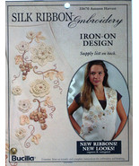 Bucilla Autumn Harvest Vest~Silk Ribbon Embroidery Transfer Pattern - $3.50