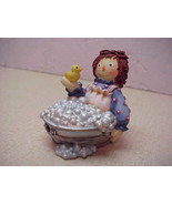 RAGGEDY ANN in Wash Basin of Bubbles FigurineEnesco - $13.99