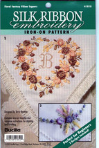 Floral Pillow Toppers~Ribbon Embroidery Beginner - $3.95