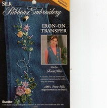 Silk Ribbon Embroidery Transfer~Floral Mist - $3.50
