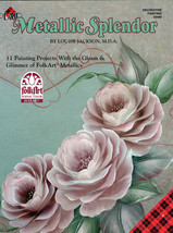 Metallic Splendor Painting Book By Louise Jackson - $6.35