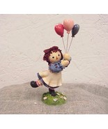 """Raggedy Ann with Balloons """"I walk on Air with a Friend Like You"""" Enesco ... - $16.36"""