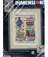 Dimensions BIRDHOUSE BLESSING No Count Cross Stitch Kit #39020 Dimensions - $21.39