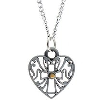 Mustard Seed Filigree Heart Pendant By Sterling Gifts [Jewelry] - $7.98