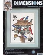Dimensions DINNER CALL Birds/Birdfeeder Stamped Cross Stitch Kit #3209 - $15.79