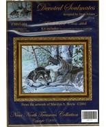 Near North DEVOTED SOULMATES Embellished Wolfs Cross Stitch Kit Dyan All... - $27.90