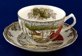 Johnson Bros The Friendly Village Cup and Saucer The Ice House - $8.99