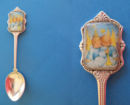 HUMMEL CHRISTMAS Souvenir Collector Spoon 1984 CHILDREN BABIES ANGELS - $7.95