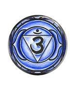 "6th Chakra Ajna 3rd Eye 1"" Circle Gunmetal Adjustable Ring - $14.95"