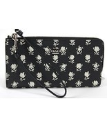 Coach Printed Crossgrain Leather Zippy Wallet 52974 Black Parchment Badl... - $123.75
