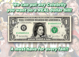 ONE(1) Celebrity Dollar Bill MADE OF MONEY Celebrities Cash Currency Bank Note - $8.88