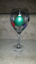 Sparkly Christmas Ornament Painted Wine Goblet - $15.00