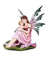 Mother and Child Fairy Statue Polyresin Figurine Home Decor - $29.69