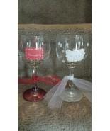 Naughty Nice Painted Wine Glass Set - $15.00