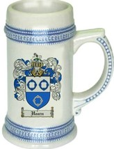 Hearn Coat of Arms Stein / Family Crest Tankard Mug - $21.99