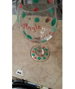 Christmas Jingle Juice Painted Wine Goblet - $15.00