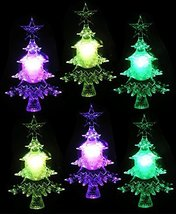 LED Christmas Tree Color Changing Lights - Set of 6 - Suction Cups for H... - €26,41 EUR